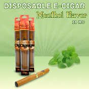 Disposable Electronic Cigar Menthol Flavor
