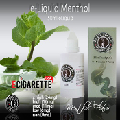 E Cigarette Liquid 50ml Menthol Flavor