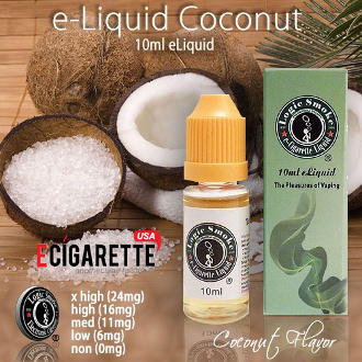 e Cig liquid refill 10ml Coconut Flavor