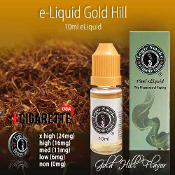 e Cigarette Liquid 10ml Gold Hill Flavor
