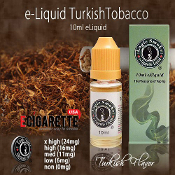 Nicotine Vapor Liquid | 10ml Turkish Tobacco | e Cig Blend Flavor