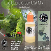 e Cigarette Juice 30ml Green USA Mix Flavor