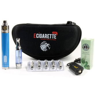 E Cigarette 2200mAh Battery Slim Dual Coil Clearomizer Kit