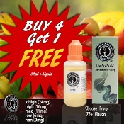 e Cigarette Liquid Buy 4 Get 1 Free 10ml or 30ml e Cig Liquid