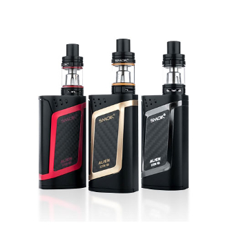 Smok Alien 220W/TC Mod Kit Smok Alien Kit which is conducted from the combination of a 220W Mod and the TFV8 Baby Beast Tank