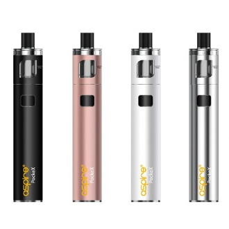 Aspire PockeX Pocket AIO Kit ockeX Atomizer, unlike most all in one devices, can actually be taken apart. For easy cleaning and maintenance the drip tip, top cap, coil, and Pyrex glass with its stainless steel covering can all be separated.