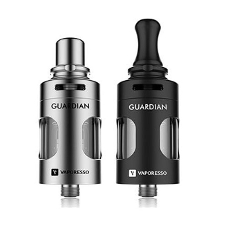 The Guardian Tank is a 2ml tank with a sporty look that pairs beautifully with any mods. It has a 510 threading and can be combined with other batteries and devices for a light weight and classic look.
