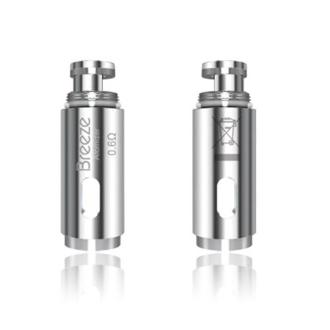 Aspire Breeze Aio Replacement Coils Aspire Breeze Replacement Coils come in a 0.6 Ohm and are known to maximize your vapors density and general amount. This coil can handle both VG and PG mixed liquids and draw the best possible flavor.