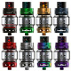 TFV12 Prince Tank is constructed of stainless steel and has a food-grade convex glass tube
