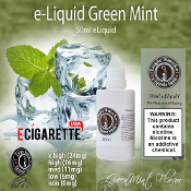 e Vapor Liquid 50ml Green Mint Flavor