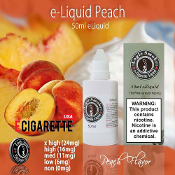 e Cig Liquid 50ml Peach Flavor