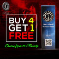 We are featuring a buy 4 get 1 free on our VG PG e liquid line with a mix of 90VG and 10PG. Plus - Fast Free Shipping with min. purchase on all US orders.